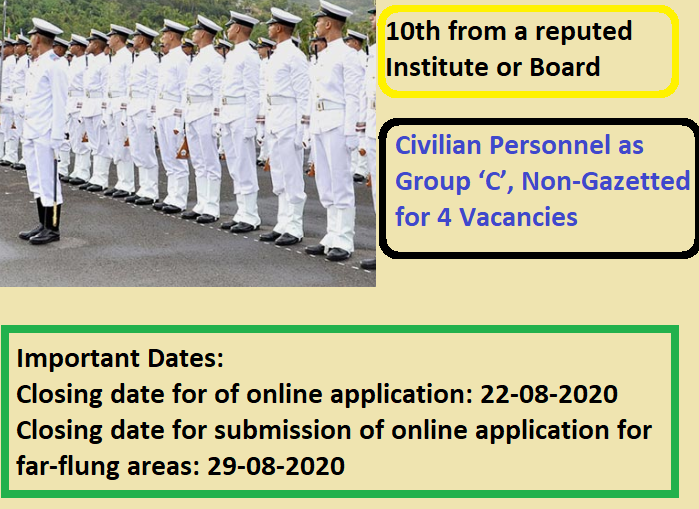 Indian Navy Civilian Recruitment Drive 2020