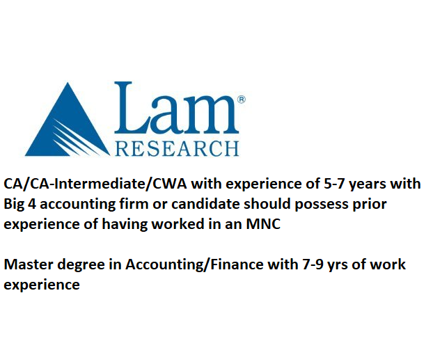 Lam Research hiring for Financial Analyst 2