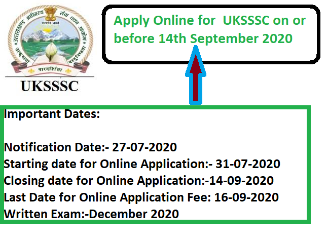 UKSSSC Recruitment Drive 2020