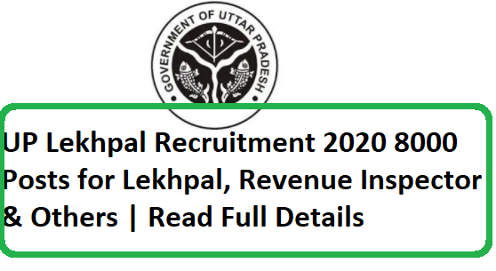UP Lekhpal Recruitment 2020-8000 Posts